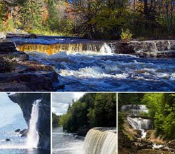 Michigan's Tahquamenon Falls, Pictured Rocks National Lakeshore,Canyon Falls and Gorge