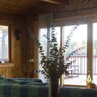 Ample views of Spruce Lake from the living room.